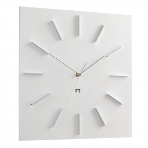 Designerski zegar ścienny Future Time FT1010WH Square white 40cm