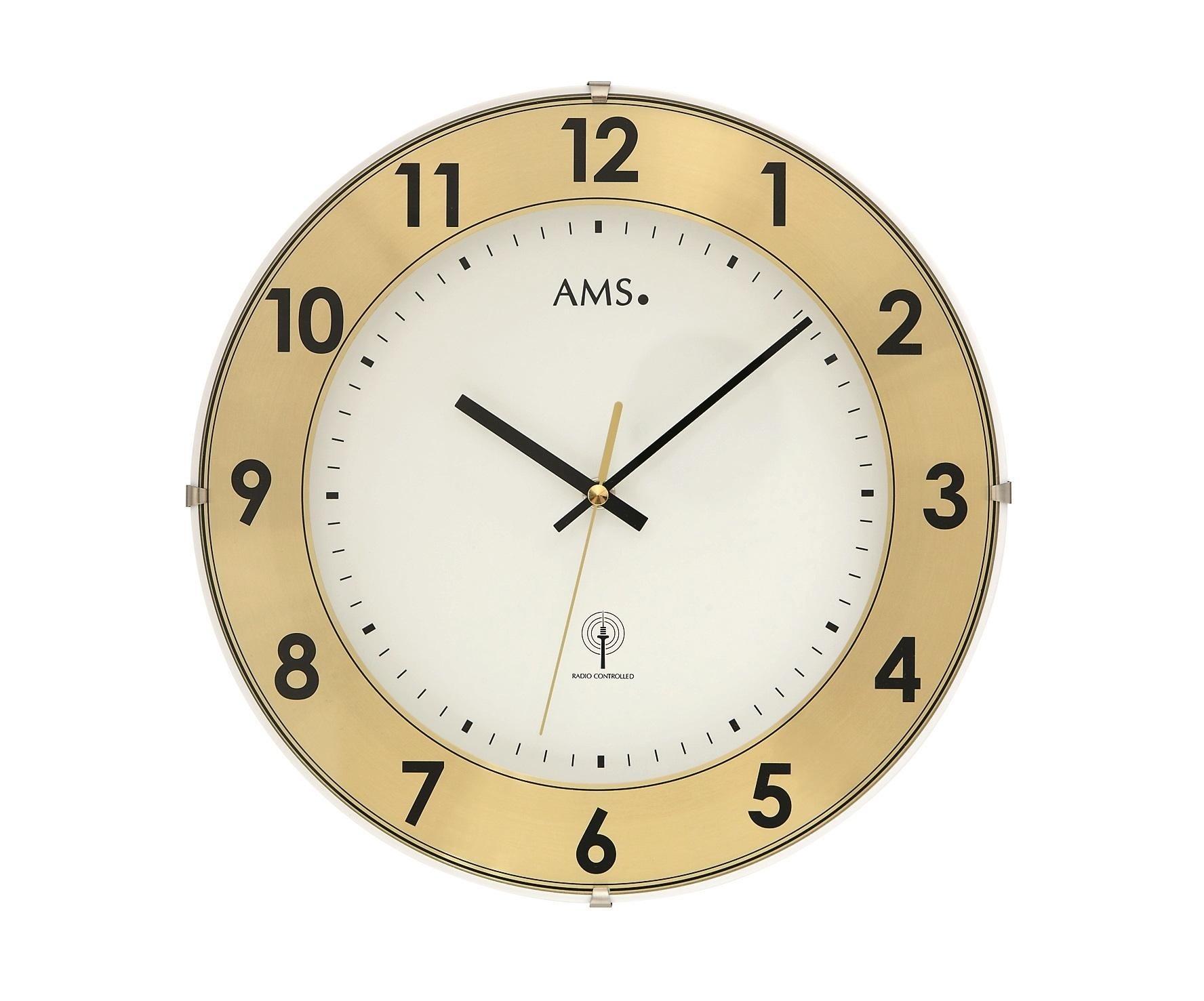 Zegar ścienny 5947 Ams Sterowany Radiowym Sygnałem 30cm